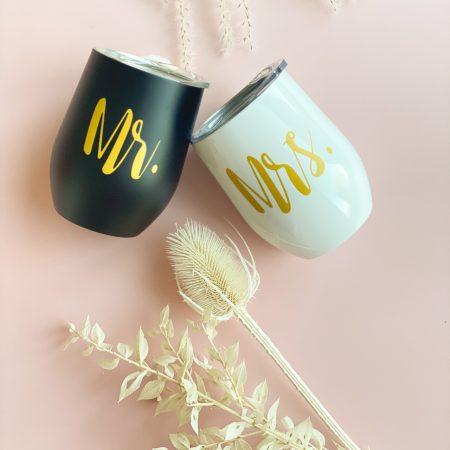 Thermobecher-Hochzeitsgeschenk-Mr. & Mrs.