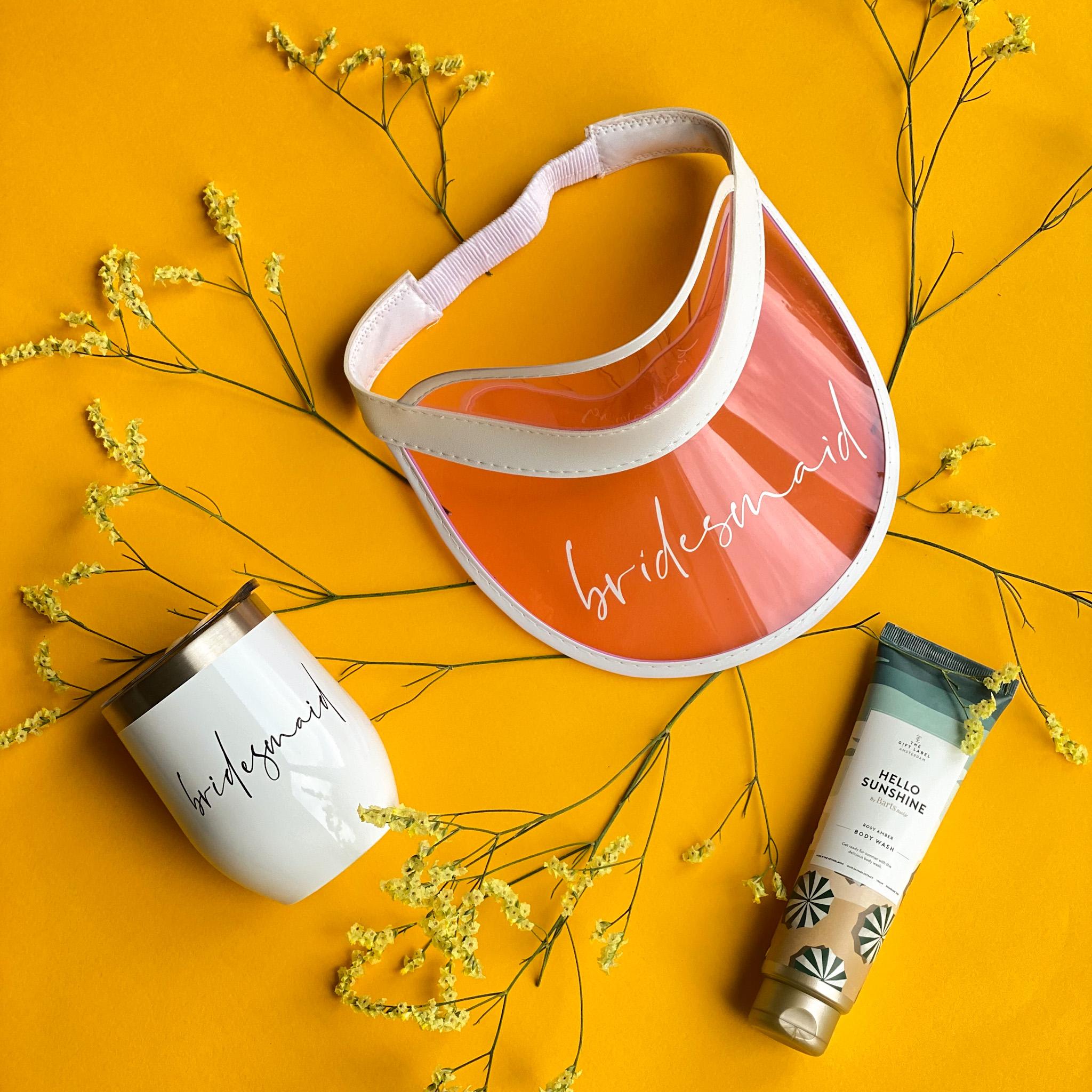 Sommerbundle für die Brautjungfer | Sonnenschutz | Weinbecher | Body Wash