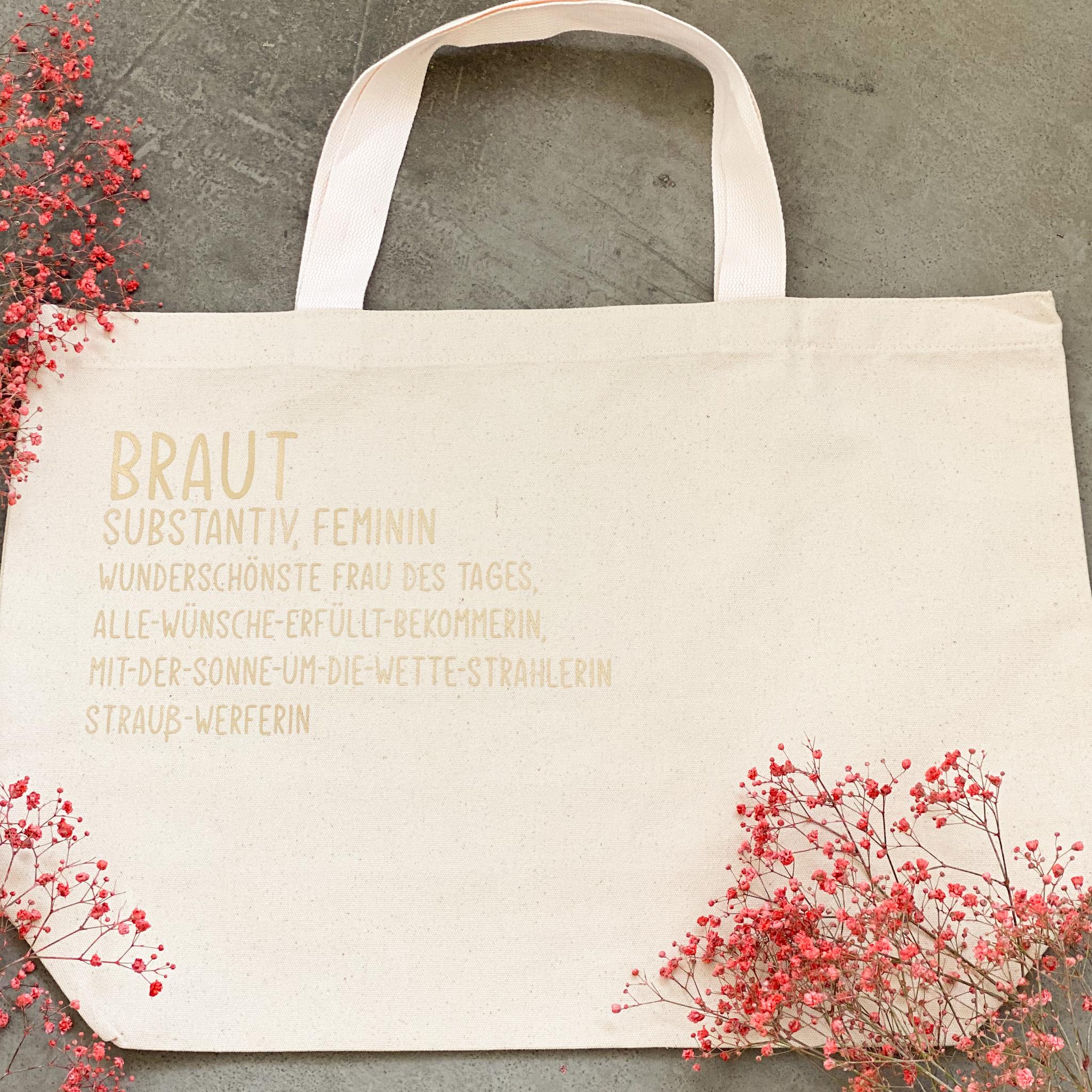 Tasche für die Braut | Shopper| Geschenk für die Braut