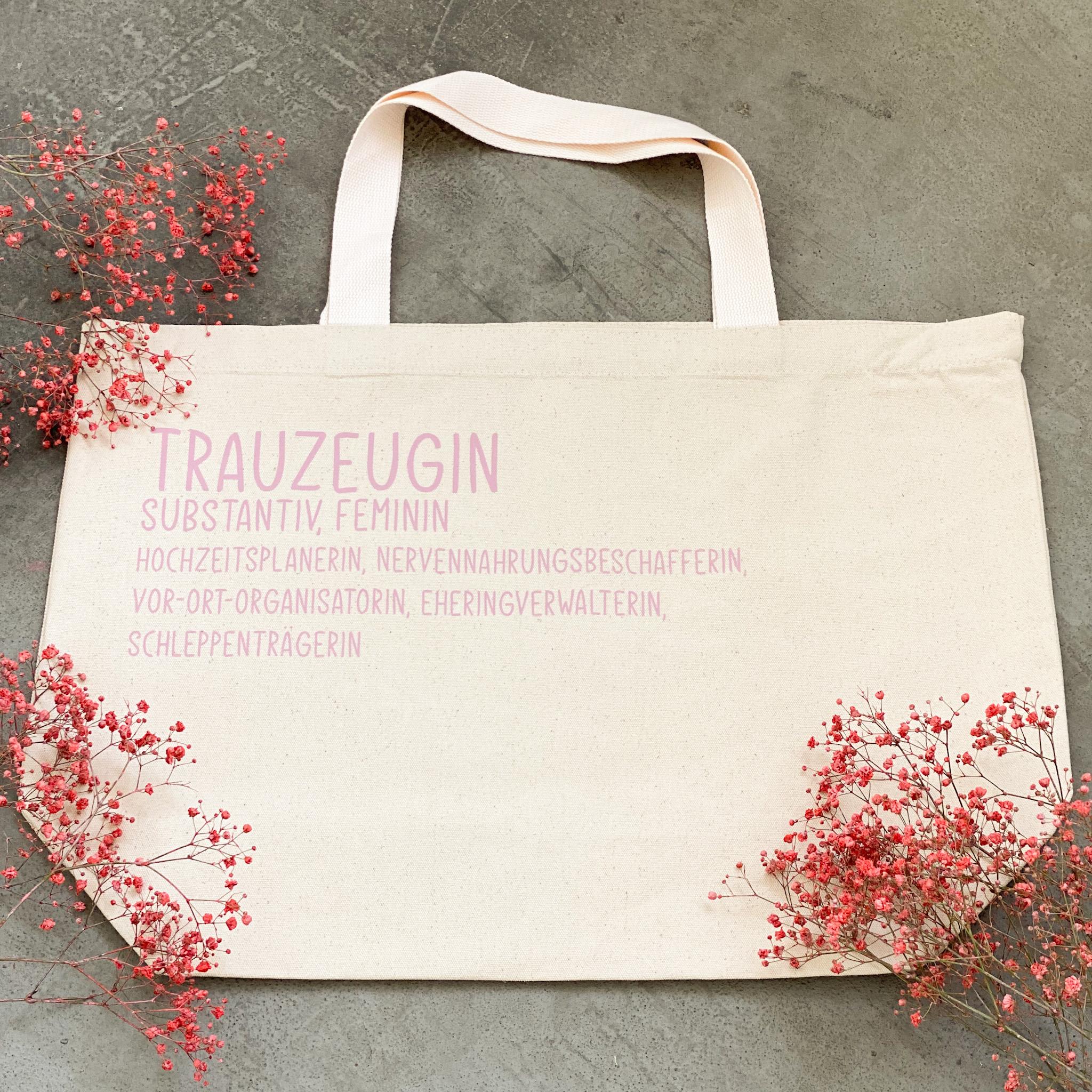 Tasche für die Trauzeugin | Shopper| Geschenk für die Trauzeugin